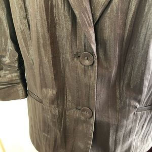 Chico's Jackets & Coats - Chico's blazer Sz 3 gray shimmery 2 button closure